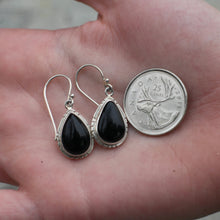 Load image into Gallery viewer, Onyx Earrings