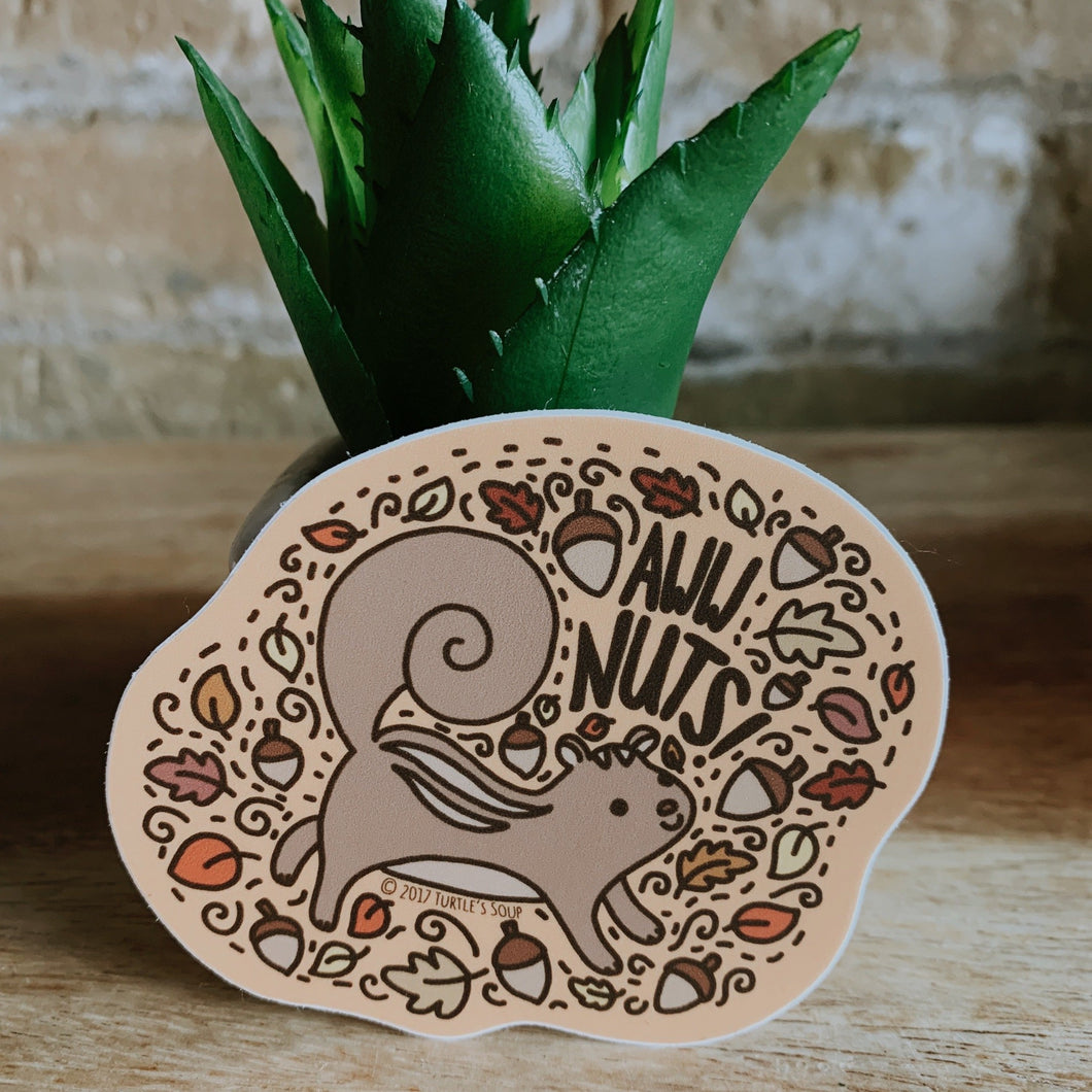 Aww Nuts Sticker