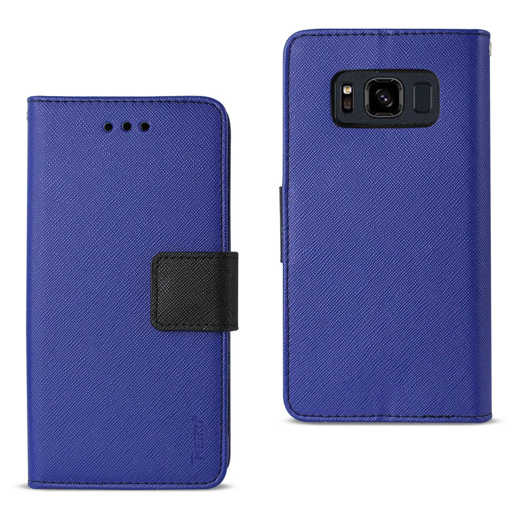 REIKO SAMSUNG GALAXY S8 ACTIVE 3-IN-1 WALLET CASE IN NAVY - keywebcoshop