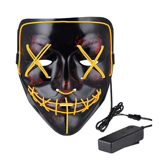 Mask LED Light up Purge Mask for Festival Cosplay Costume