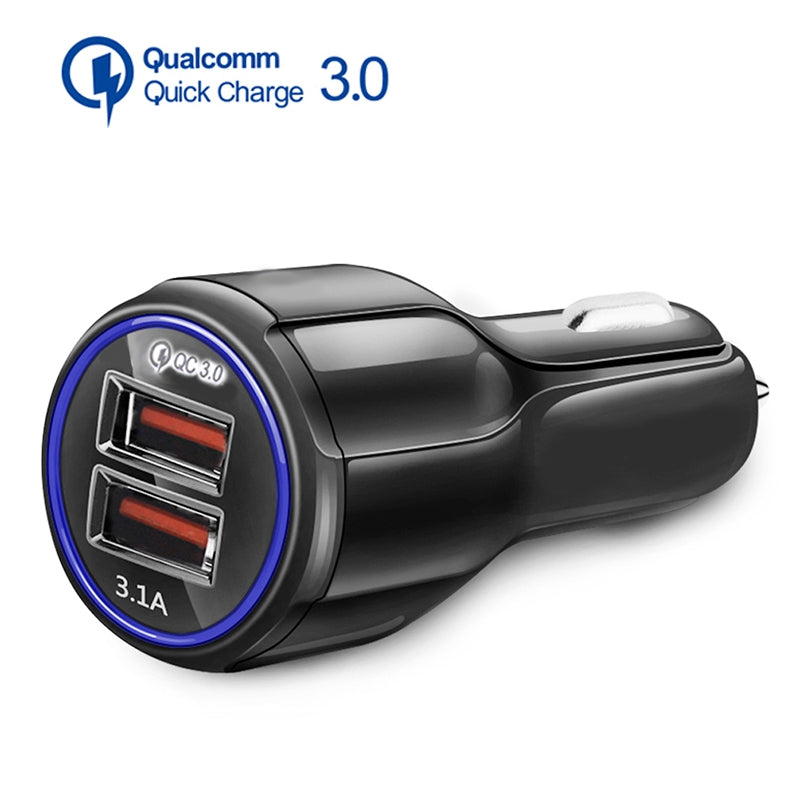 3.1A QC 3.0 Dual USB Quick Charging Car Charger