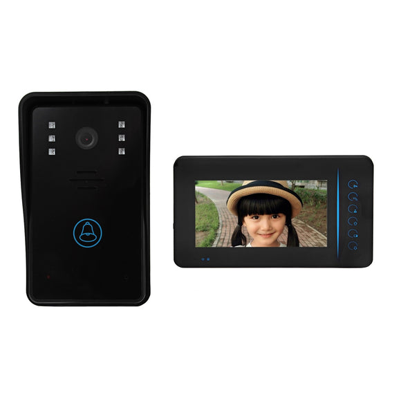 SY815A11 Wireless 7 Inch TFT Color LCD Screen Night Vision Video Door Phone Intercom Doorbell