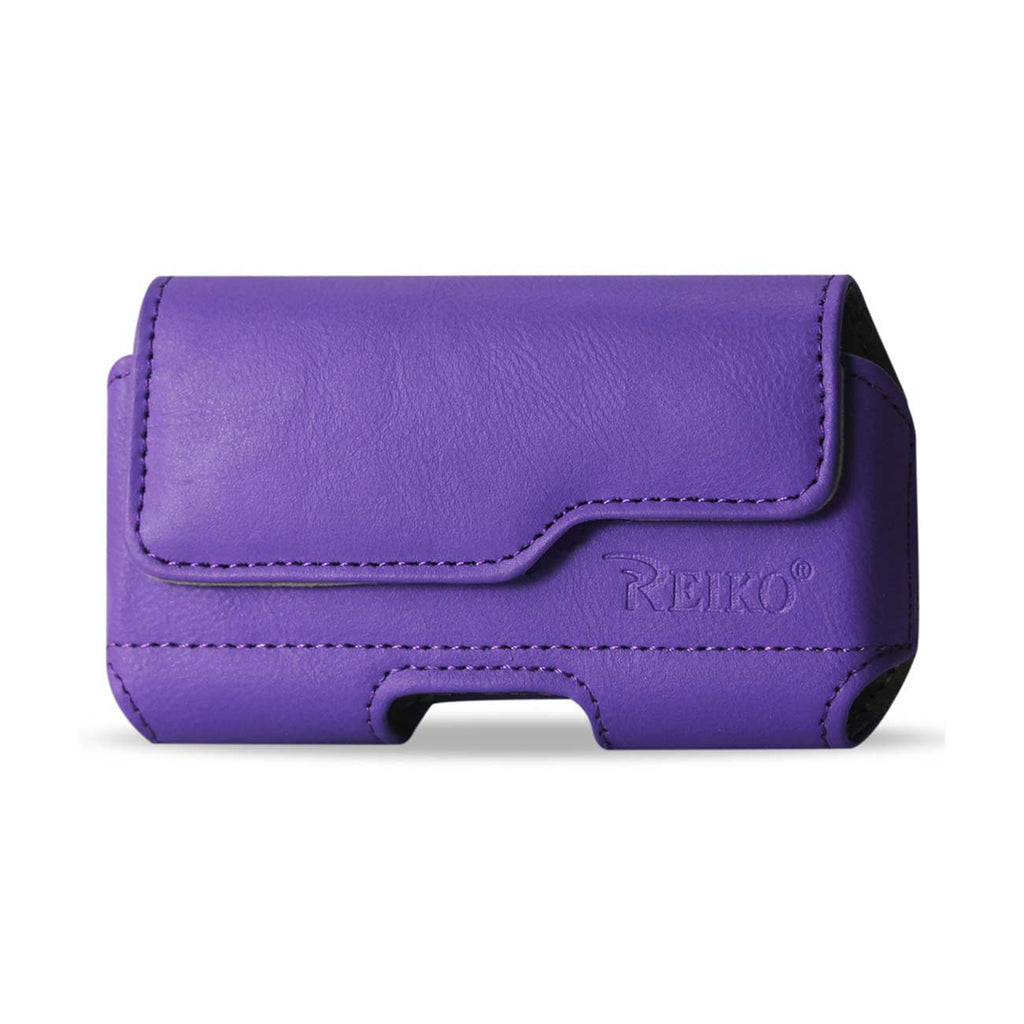 HORIZONTAL Z LID LEATHER POUCH SAMSUNG GALAXY NOTE 3 IN PURPLE (6.5X3.62X0.71 INCHES PLUS) - keywebcoshop