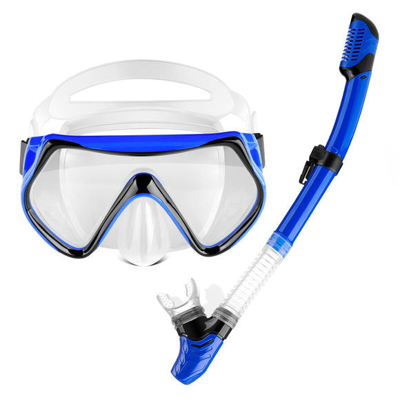 Two-Piece Suite of Full Dry Respiratory Tube for Adults with Snorkeling Antifogg
