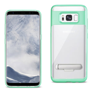 REIKO SAMSUNG GALAXY S8 EDGE/ S8 PLUS TRANSPARENT BUMPER CASE WITH KICKSTAND AND MATTE INNER FINISH IN CLEAR GREEN - keywebcoshop