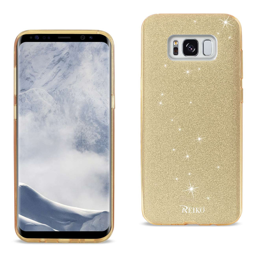REIKO SAMSUNG GALAXY S8 EDGE/ S8 PLUS SHINE GLITTER SHIMMER LEOPARD HYBRID CASE IN GOLD - keywebcoshop
