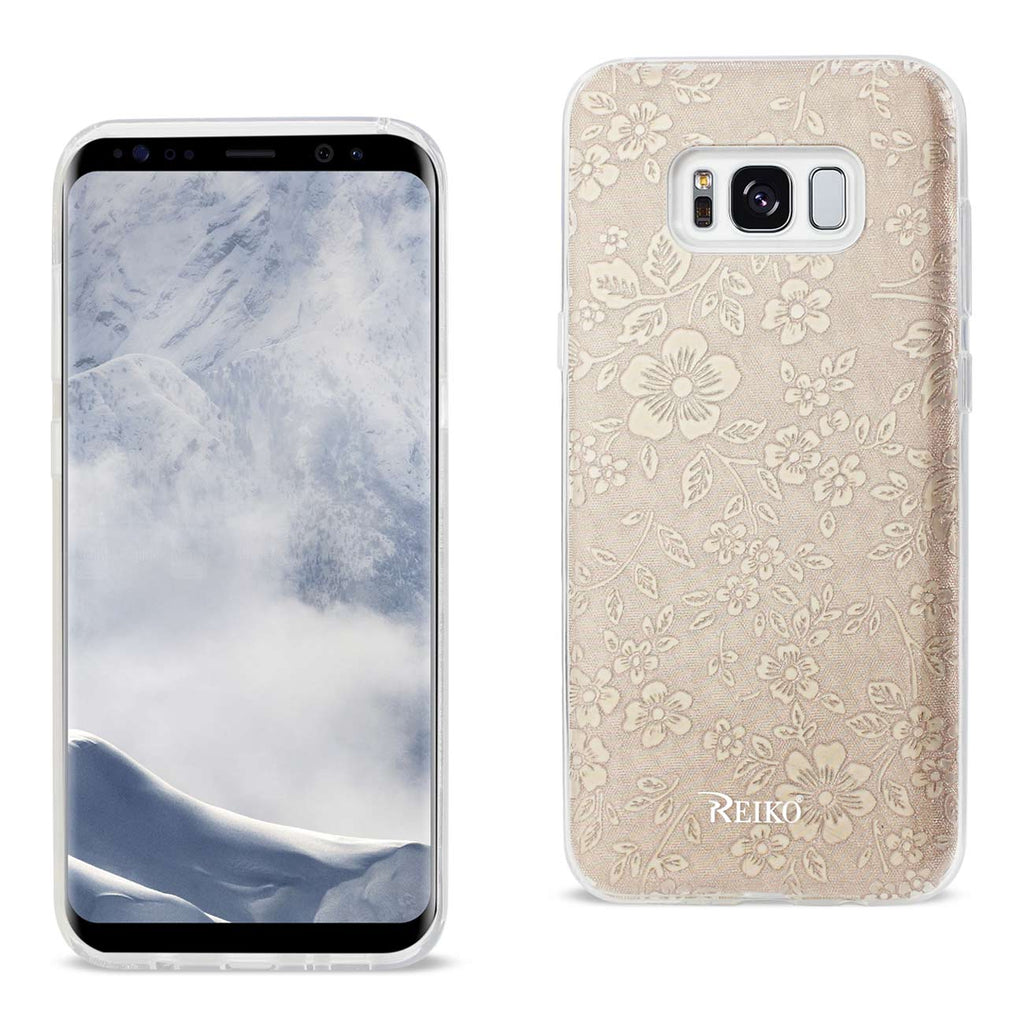 REIKO SAMSUNG GALAXY S8 EDGE/ S8 PLUS SHINE GLITTER SHIMMER PLUM BLOSSOM HYBRID CASE IN GOLD - keywebcoshop