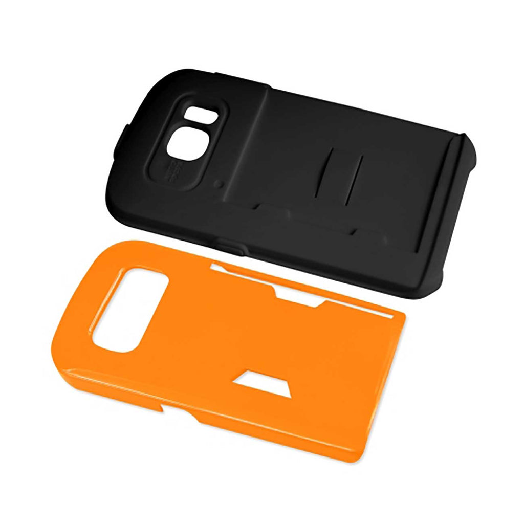 REIKO SAMSUNG GALAXY S6 CANDY SHIELD CASE WITH CARD HOLDER IN ORANGE - keywebcoshop