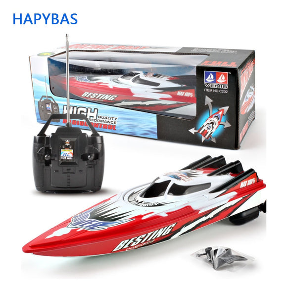 4 channels RC Boats Plastic Electric Remote Control Speed Boat  Twin Motor Kid Chirdren Toy
