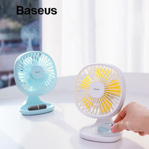 Baseus USB Gadgets Cool Fan Portable Ventiladors 3-Speed Electric Mini USB Fan Quiet Summer Cooler 5 Blades Desktop Office Fan - keywebcoshop