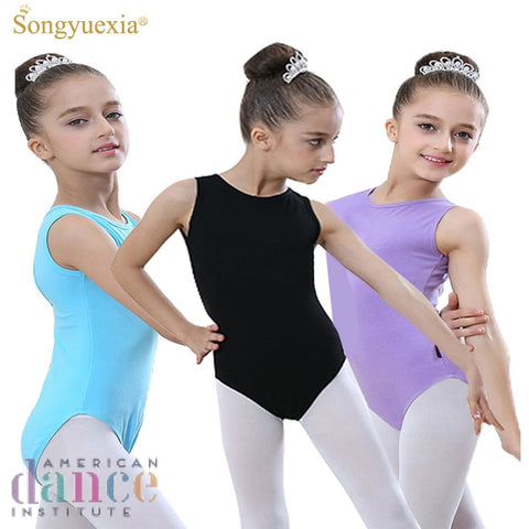 Songyuexia Sleeveless Gymnastics Ballet Leotards For Girls Costumes Kids Ballerina Bodysuit
