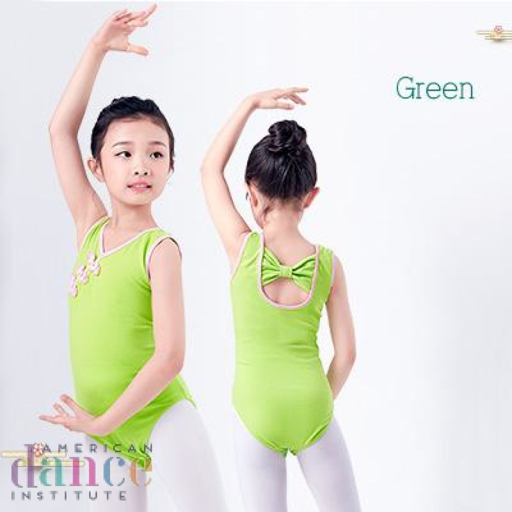 dcf6cd7802f1 V neck Sleeveless Back Bowknot Ballet Leotards Girls Kids Vest ...