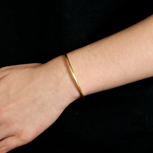 Round Cuff - 18k Brushed Gold