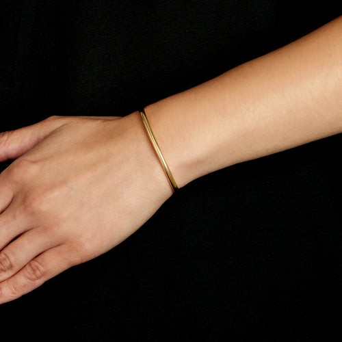 Round Cuff - Polished 18k Gold