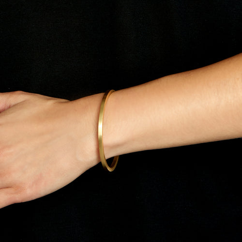 Signature Bangle, Matte 3mm