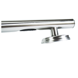24 inch Straight Decorative Grab Bar with Capped Ends, Multiple Nubby Rubber Grips and FREE LiveSafe Anchors (2)