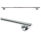 32 inch Straight Decorative Grab Bar w/ Angled Ends Long Rubber Nubby Grip & FREE LiveSafe Anchors (2)