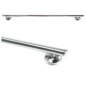 48 inch Straight Decorative Grab Bar w/ Grips, Angled End Grips / FREE Anchors