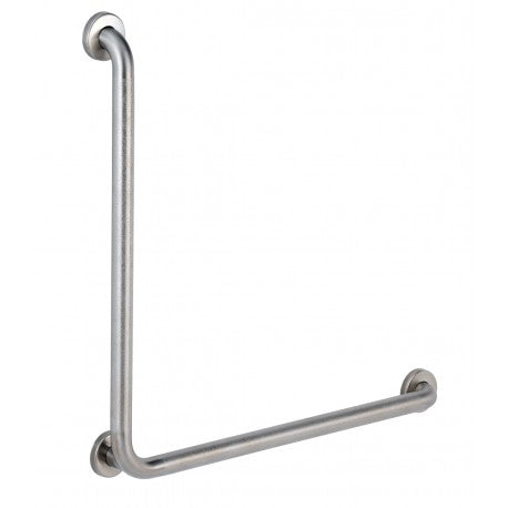 30 x 30 L Bar 1 1/4 inch Diameter, 18 Gauge, 304 Stainless, Satin Smooth Grip & Mounting Screws