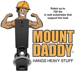 """MOUNT DADDY"" BEHIND-THE-WALL FASTENER WITH ELASTOMERIC SNAP BACK BAND"