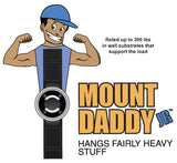 """MOUNT DADDY JR"" BEHIND-THE-WALL FASTENER WITH ELASTOMERIC SNAP BACK BAND"