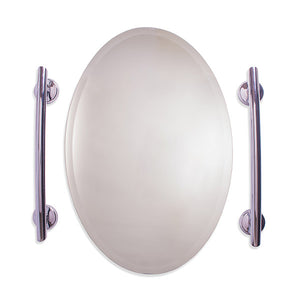 Grabcessories Grab Bar Surrounding Mirror 2-Pack w/ Grips & Anchors