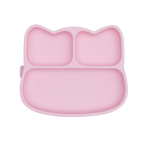 Cat Stickie Plate - Powder Pink