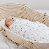 Water Colour Woodland Bamboo / Cotton Muslin Swaddle