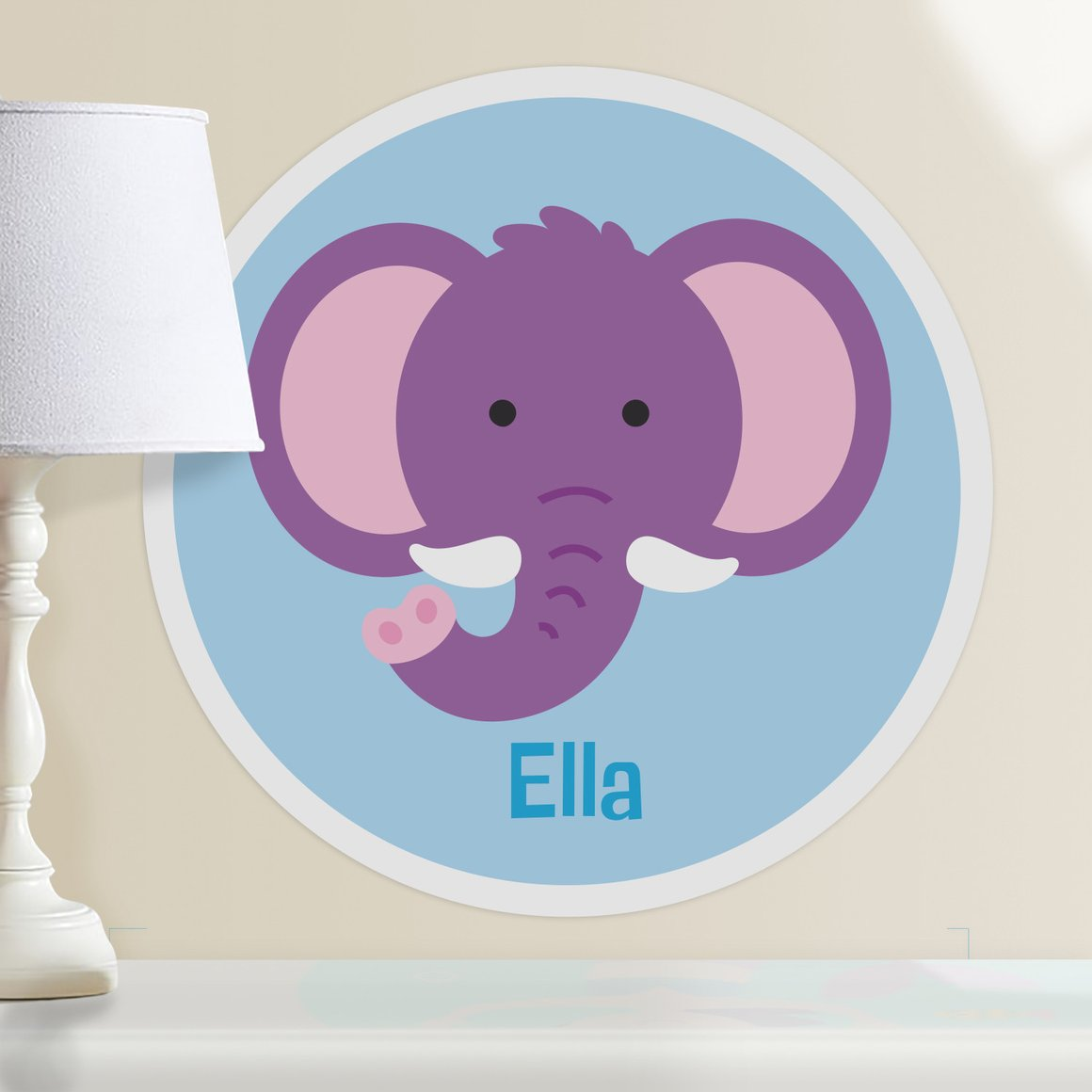 Baby Animals Elephant Personalized Kids Wall Dotz Decal