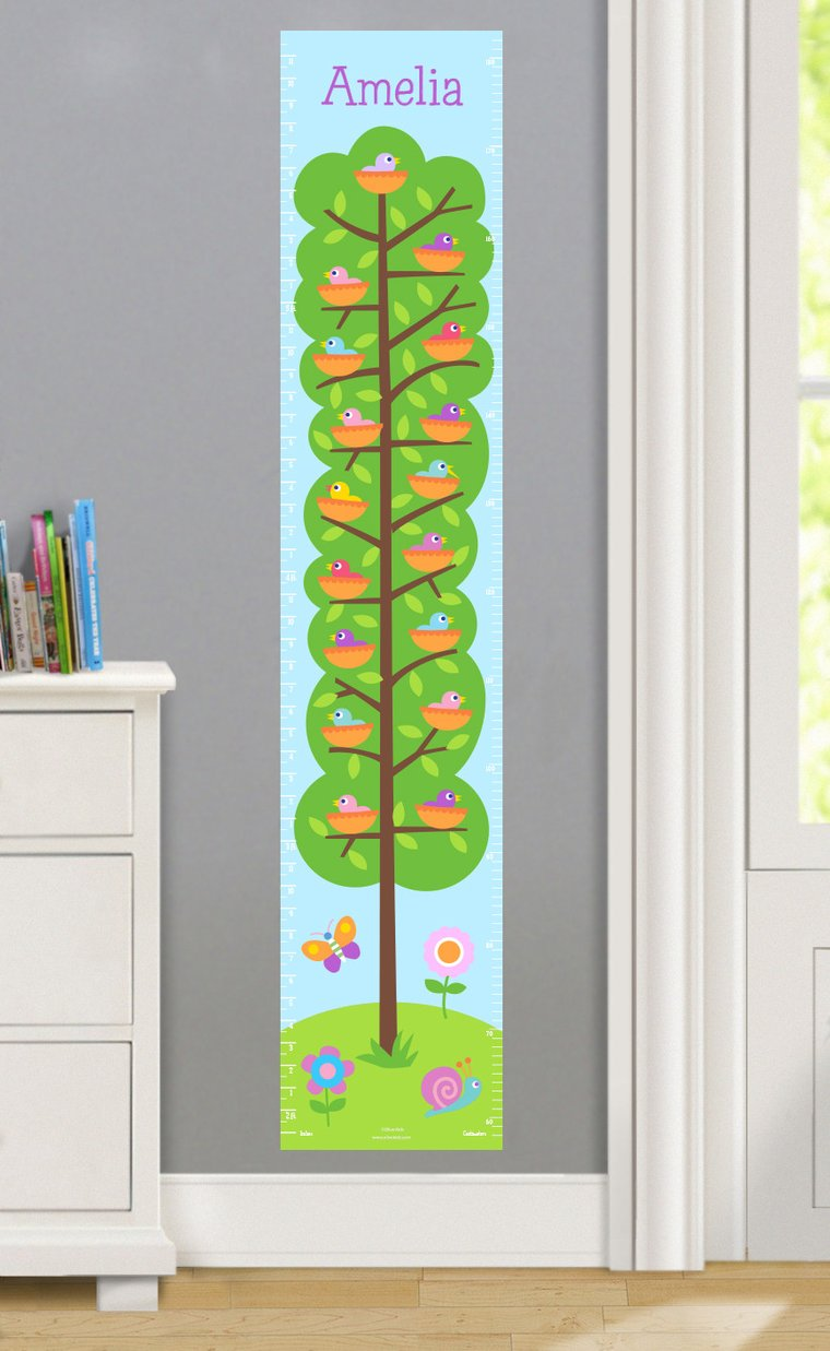 Baby Birds Personalized Decals Kids Growth Chart