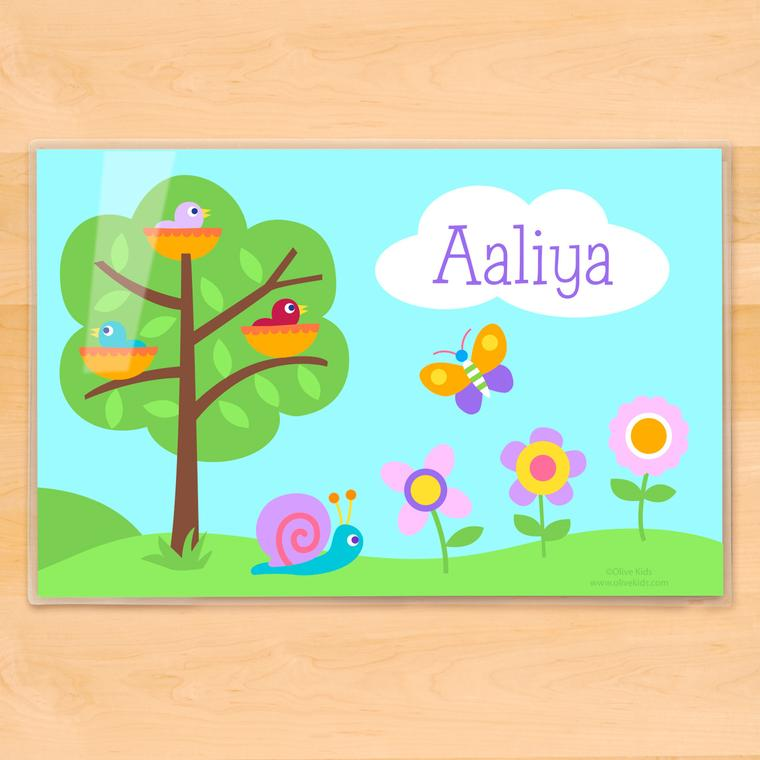 Baby Birds Personalized Kids Placemat