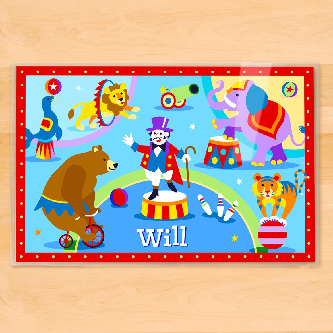 Big Top Circus Personalized Kids Placemat