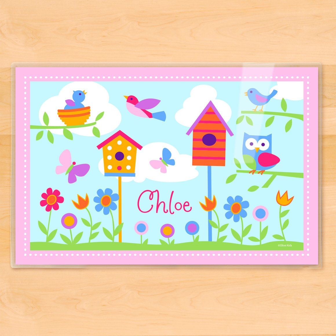 Birdie Personalized Kids Placemat