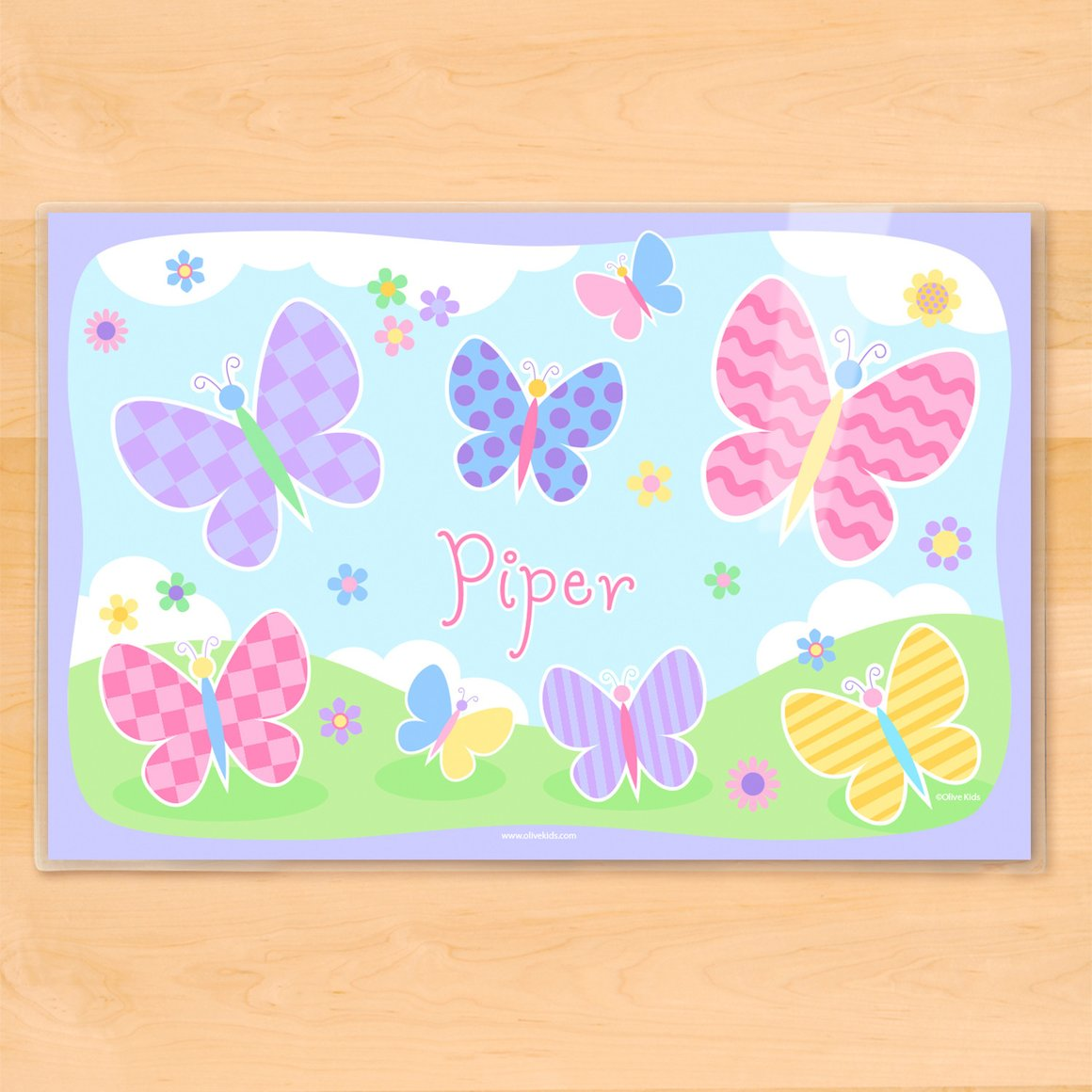 Butterfly Garden Personalized Kids Placemat