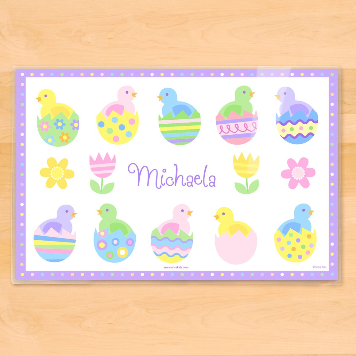 Chicks Personalized Kids Placemat