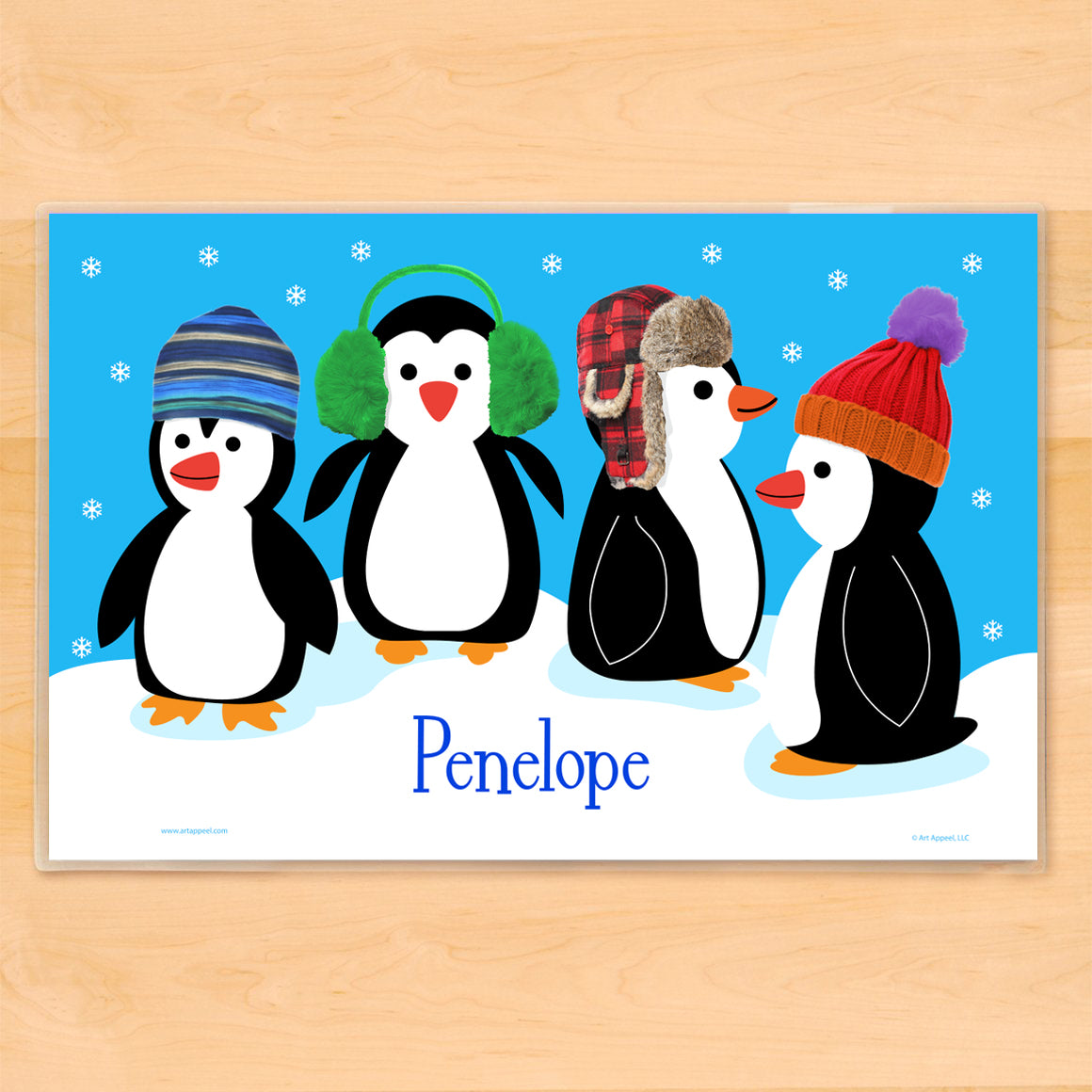 Chilly Penguins Personalized Kids Placemat