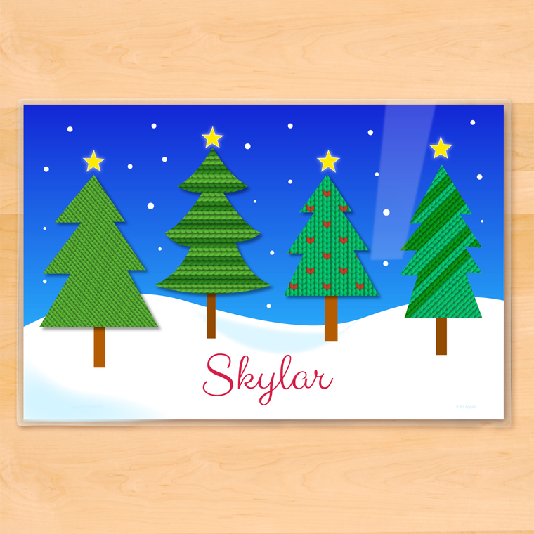 Christmas Forest Personalized Kids Placemat