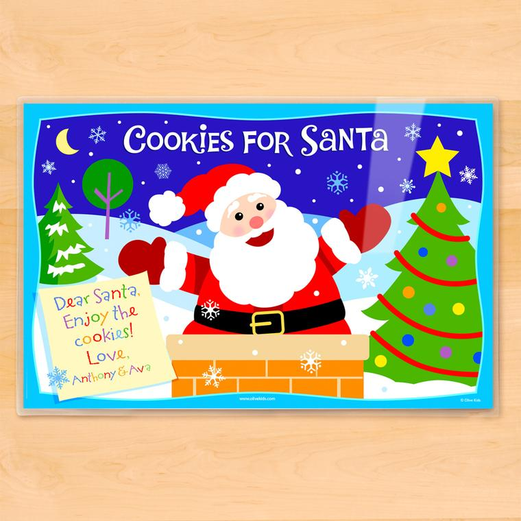 Cookies for Santa Personalized Kids Placemat