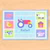 Country Baby Tractor Personalized Placemat