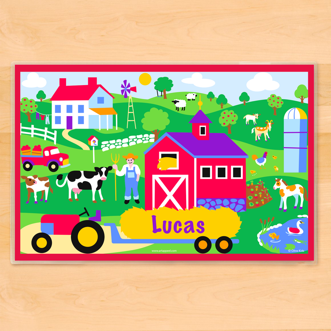 Country Farm Personalized Kids Placemat