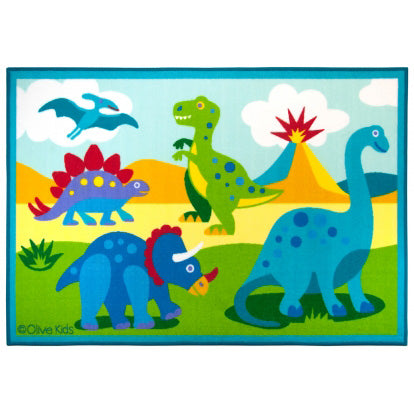 Dinosaur Land Kids Printed Rug