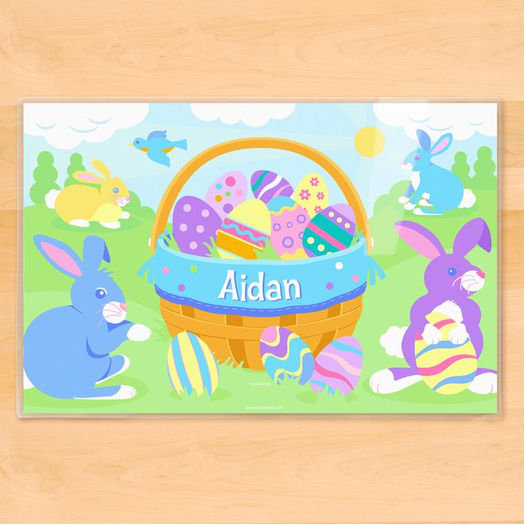 Easter Basket Boys Personalized Kids Placemat