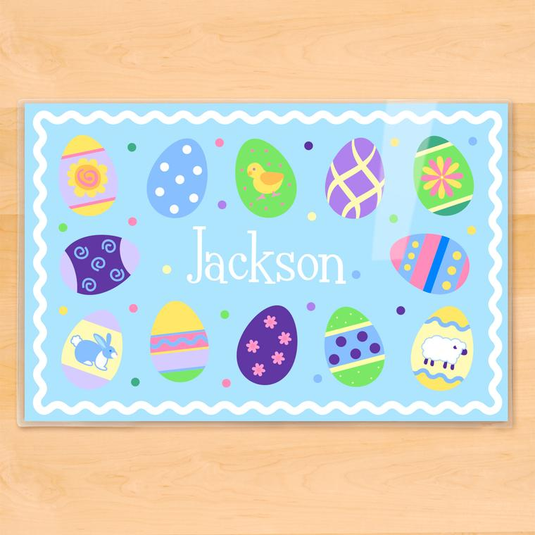 Easter Eggs Boys Personalized Kids Placemat