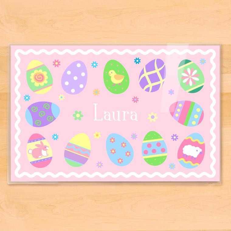 Easter Eggs Girls Personalized Kids Placemat