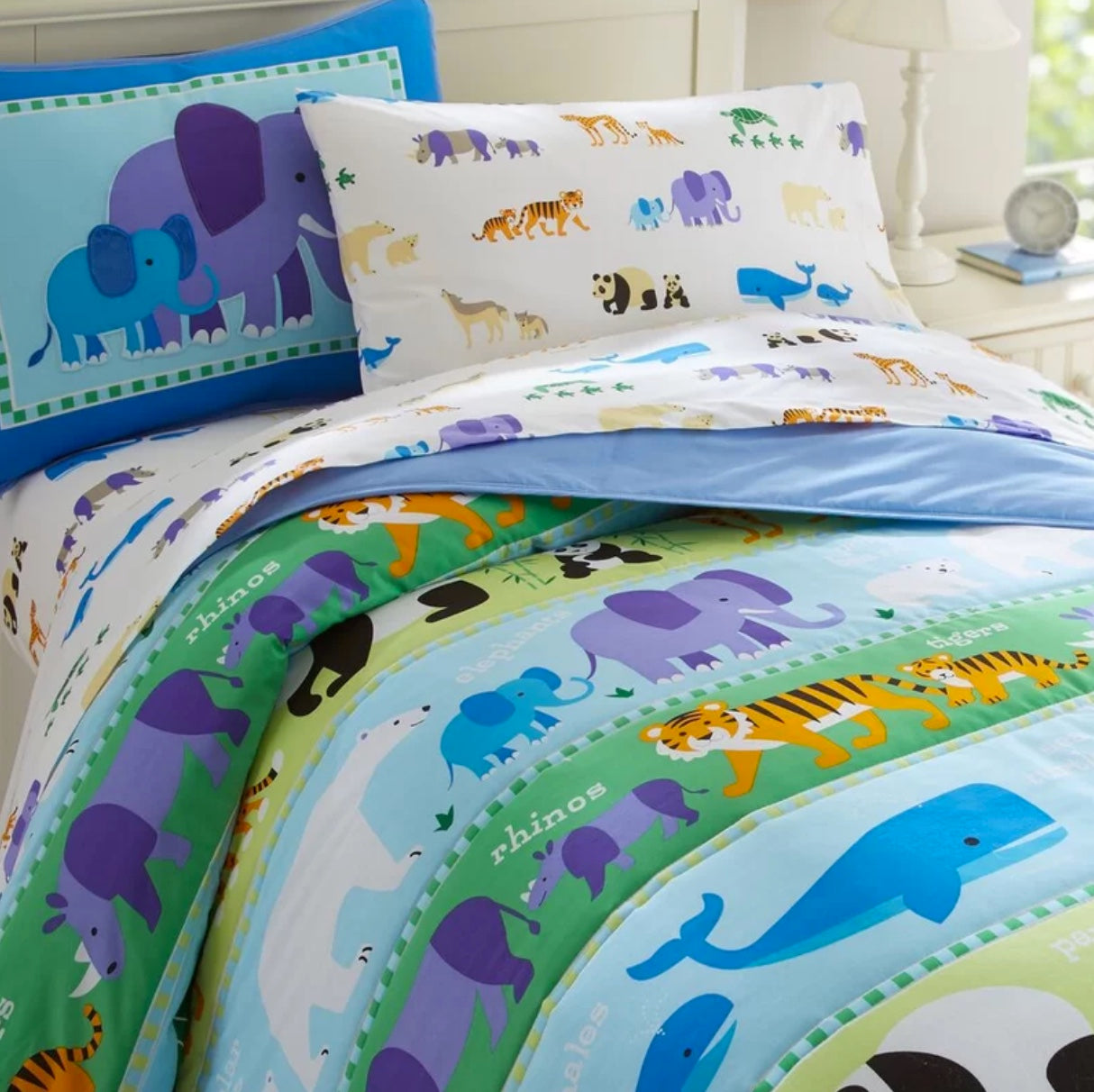 Endangered Animals Comforter Set with Sheets