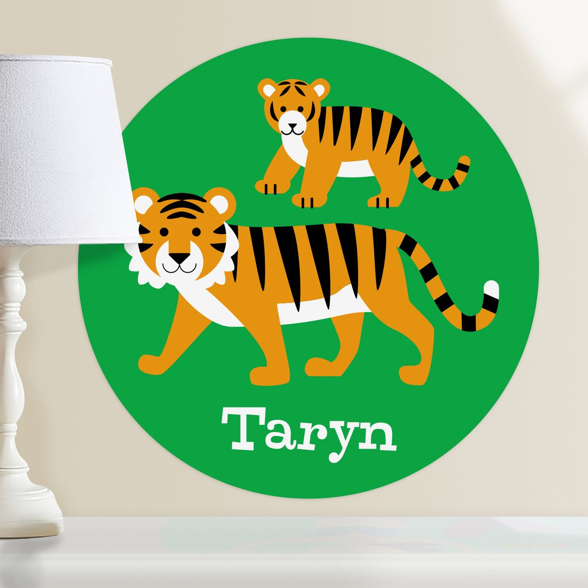 Endangered Animals Tigers Personalized Kids Wall Dotz Decal