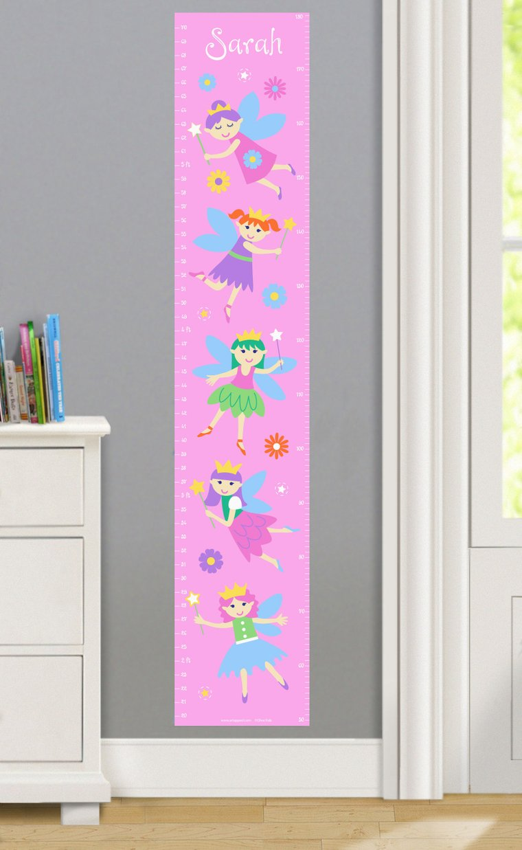 Fairy Princess Personalized Decals Kids Growth Chart