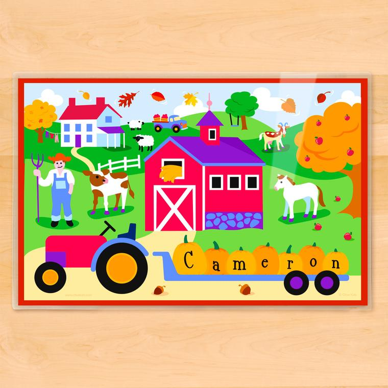 Fall Farm Personalized Kids Placemat