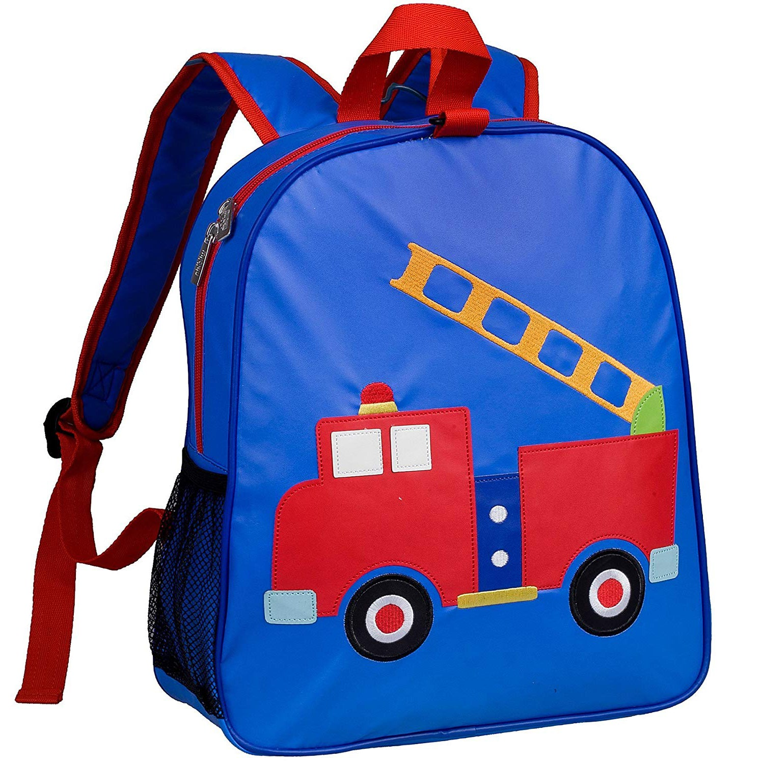 Firetruck Embroidered Backpack