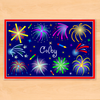 Fireworks Personalized Kids Placemat